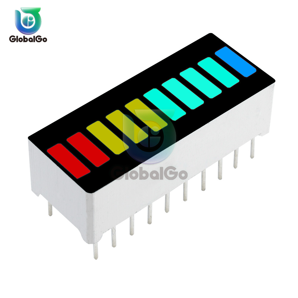 Multi-color LED Bargraph Light Lamp 10 Segments 4 Colors LED Display Panel Module Tube Ultra Bright Integrated Circuits