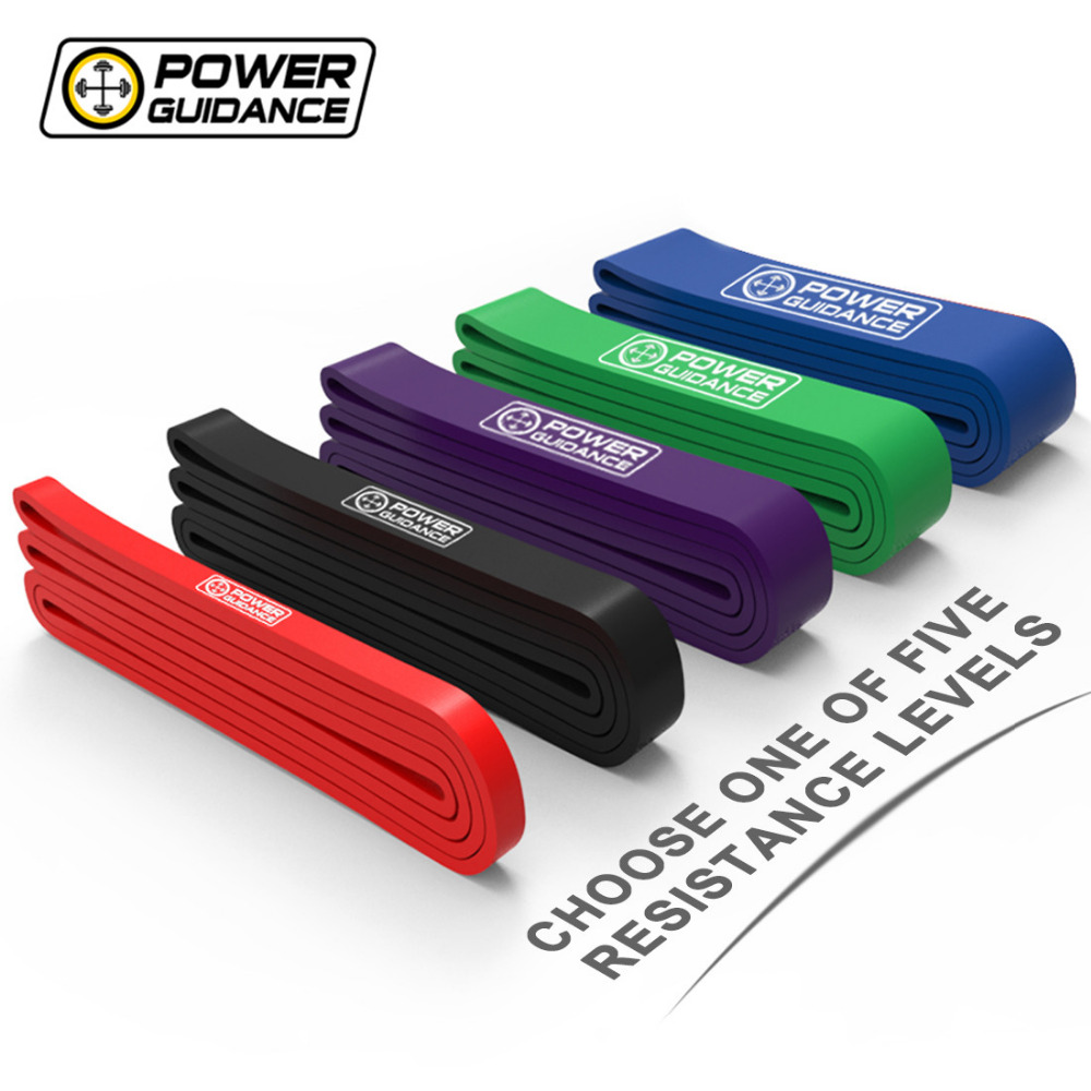 POWER GUIDANCE FitnessResistance Pull Up Bands Latex Streching Band Loop Strap For Pull-Ups Gymnastics Powerlifting Free Bag