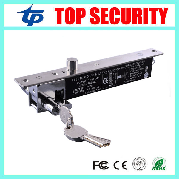 Hot sale emergency electric lock system NO type power to open fail secure low temperature door electric bolt lock with key hot sale prdl18 7dn lengthen type