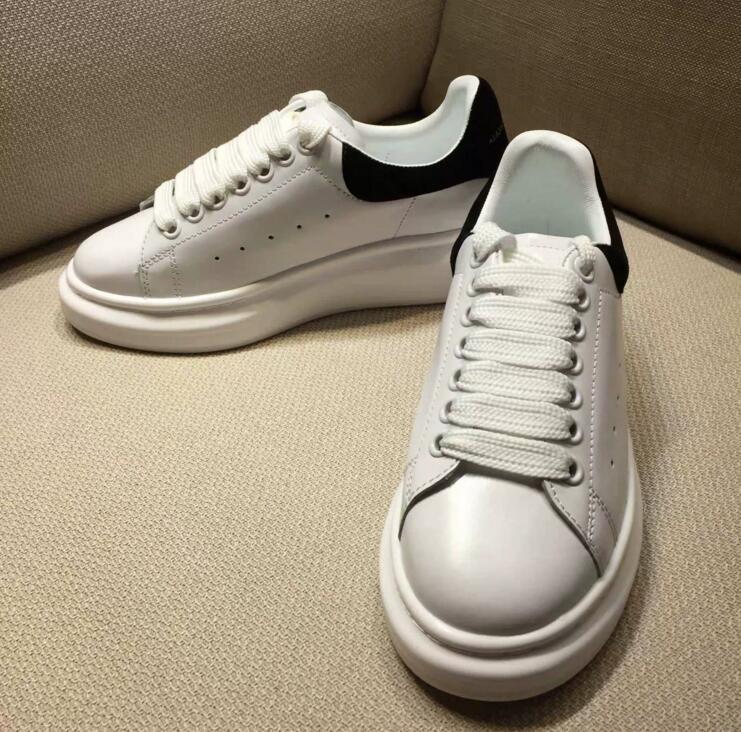 Ayakk.'ten Kadın Pompaları'de Kadın yüksek kaliteli marka deri beyaz sneakers platform ayakkabılar artan rahat ayakkabılar sünger ayakkabı sneakers'da  Grup 2