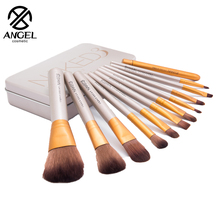 Golden 12 Pcs/lot Make Up Brushes Set Foundation Face&Eye Powder Blusher Professional Cosmetics Makeup Brush