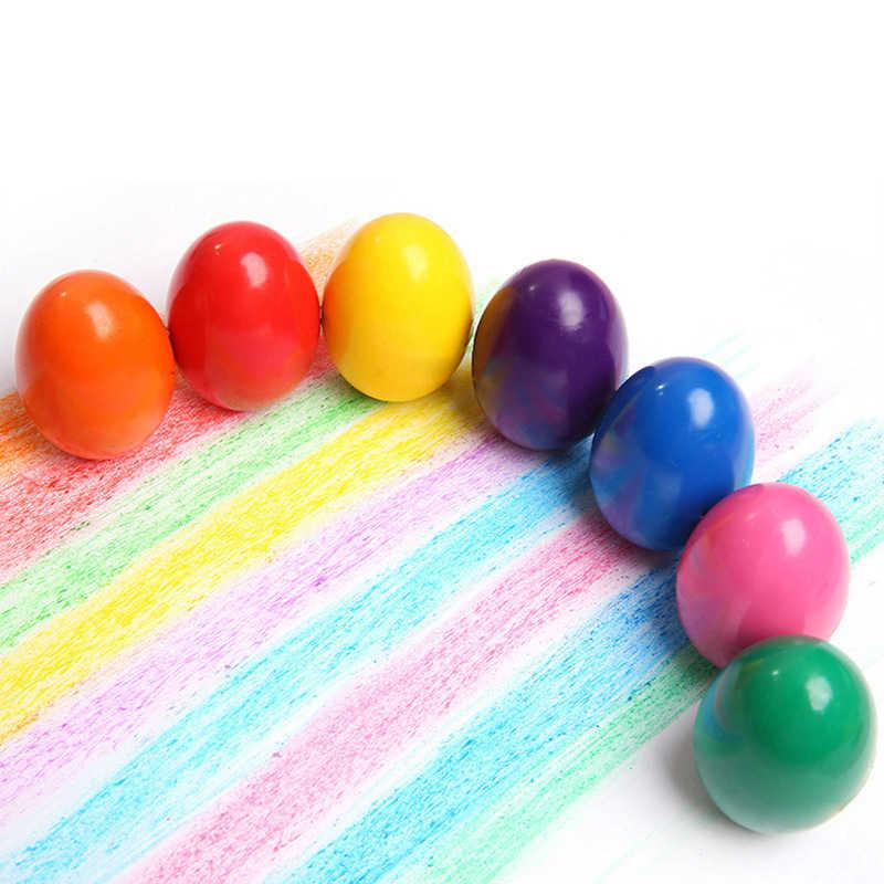Creative 9 couleurs Non-toxique peinture oeuf Crayon Art dessin pour enfants peinture papeterie Crayon brosse Art fournitures