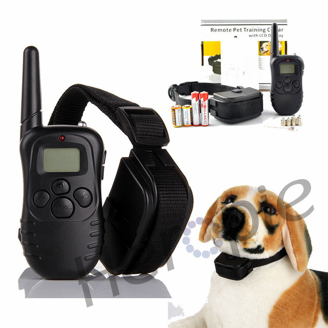 Heropie 300M Waterproof Dog Training Behaviour Aids LCD 100LV Yard Level Electric Shock Vibration Remote Pet Dog Training Collar