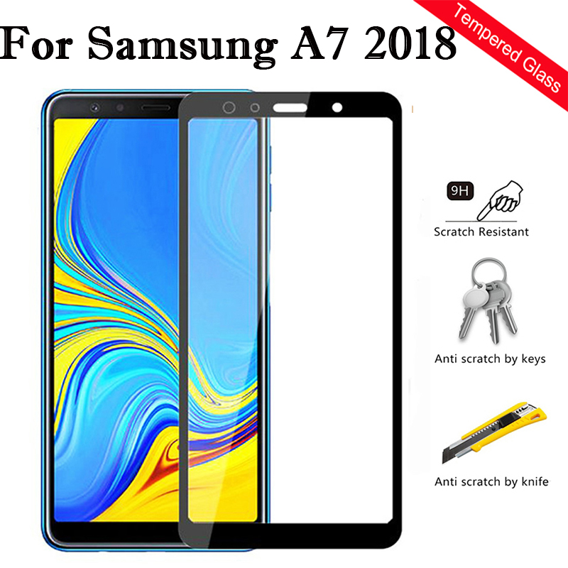 Protective Glass For <font><b>Samsung</b></font> A7 <font><b>2018</b></font> A750 A730 Screen Protector Tempered Glass On The Galaxy A 7 7a A72018 <font><b>750</b></font> 730 SM-A750 Film image