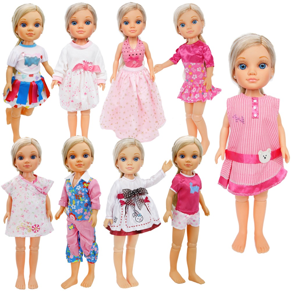 1 Pcs Handmade Cute Outfit Daily Wear Floral Print Dress Shirt Trousers Clothes For Nancy Doll For Sharon Doll Accessories Toys