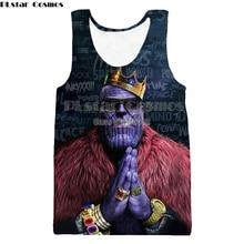 YX GIRL Funny Thanos Tank Tops 3D Print Avengers:Infinity War Thanos Pattern Sleeveless Shirt  Vest Sexy Fashion Clothing