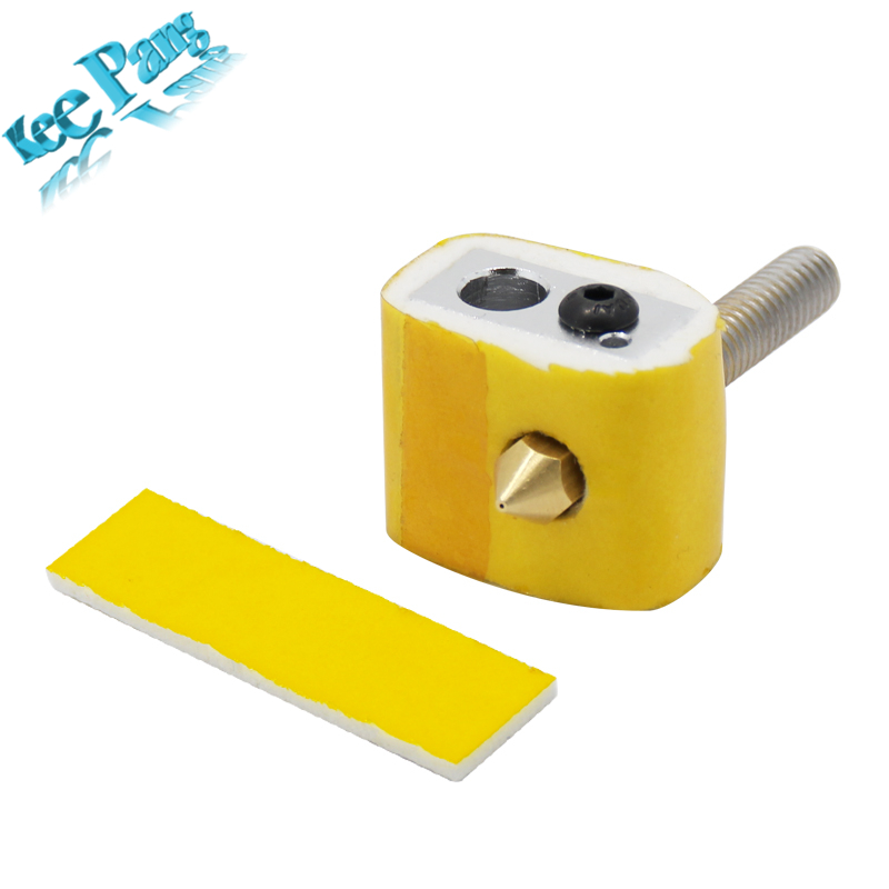 10pcs 3mm Thickness Heating Block Cotton Heat Insulation Part For Makerbot Ultimaker MK8 Extruder 3D Printers Parts Thick Tape aluminium v6 heat block for reprap j head extruder hotend 3d printers parts heater hot end heating accessories 20 16 12 mm part