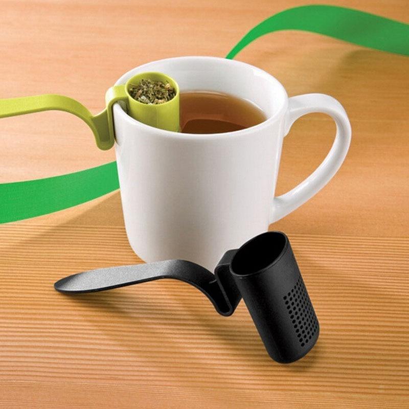 1PC Tea Strainer Herbal Spice Leaf Tea Infuser Reusable Strainer Tea Coffee Colander Teaspoon Kitchen Tea Infusers Filter LB 375