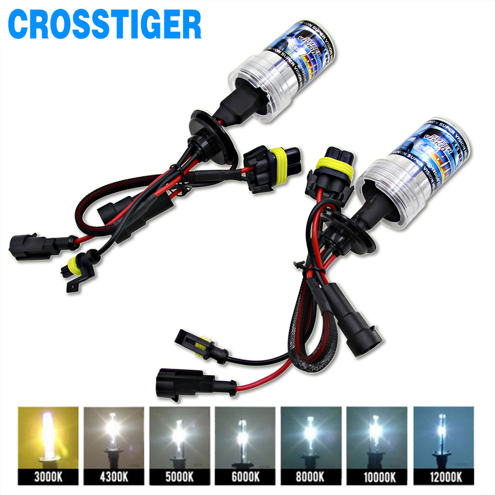2pcs 12V 55W Xenon H7 HID Conversion Kit H1 H3 H11 9005 Bulb Auto Car Headlight Lamp 3000k 4300k 5000K 6000k 8000K 12000K 9006 75w 12v car styling hid xenon bulb headlight lamp replacement auto motorcycle light source 3000k 4300k 6000k 8000k 12000k