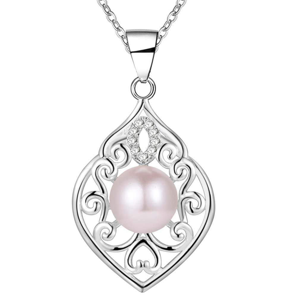 New Arrival silver plated Necklaces & Pendants Fashion 925 jewelry Wholesale Charms AAA Cubic Zircon Bijouterie Pendants AN1649