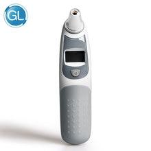 GL LCD Digital Infrarød Baby Øre Termometer Ikke-kontakt Øre og panne Kroppstemperatur Baby Voksen Medisinsk Fever Termometer