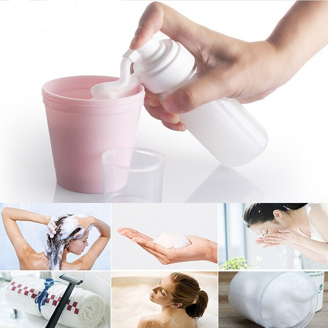 40~300 ml Travel Spray Bottle Cosmetic Shampoo Cream Lotion Empty Container Portable Refillable Pressed Bath Perfume Holder