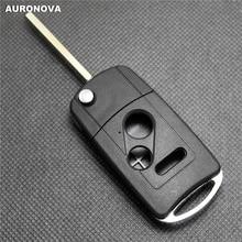 цена на AURONOVA New Upgrade Folding Key Shell for HONDA Fit Accord Civic City Crv  2+1 Buttons Remote Car Key Case