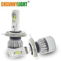 CNSUNNYLIGHT רכב LED פנס נורות H4 Hi/Lo Beam 70 W 9000LM 6000 K סופר לבן אוטומטי ראש המנורה Off Road ריצת אורות 12 V 24 V