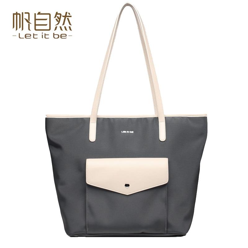 ФОТО 2016 new design female bag casual tote bag women shoulder bag oxford nylon bags let it be brand waterproof bolsas