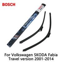 2pcs Lot Bosch Car AEROTWIN Wipers Windshield Wiper Blades Dedicated Wipers For Volkswagen SKODA Fabia Travel