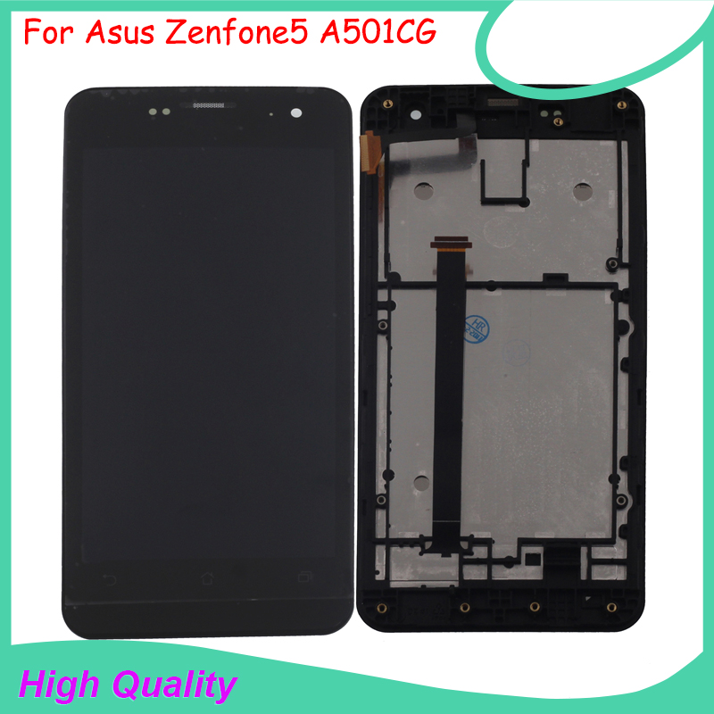 Calidad original para asus zenfone5 a501cg lcd display + touch screen panel para