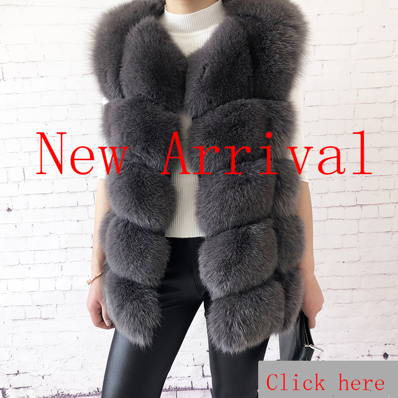 2019 new style real fur coat 100% natural fur jacket female winter warm leather fox fur coat high quality fur vest Free shipping 13
