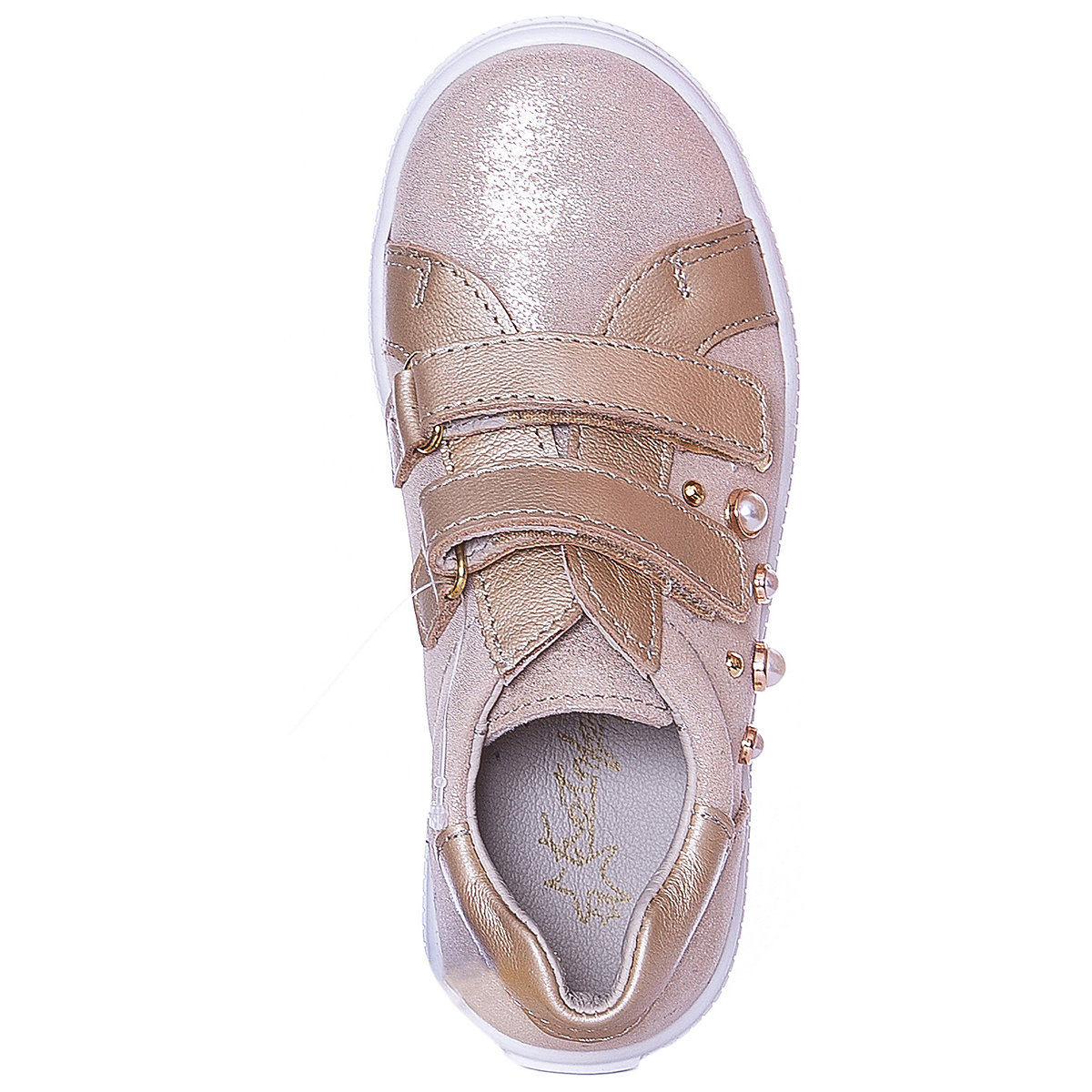 KOTOFEY enfants chaussures décontractées 10813962 baskets chaussures de course pour enfants or sport filles en cuir - 3