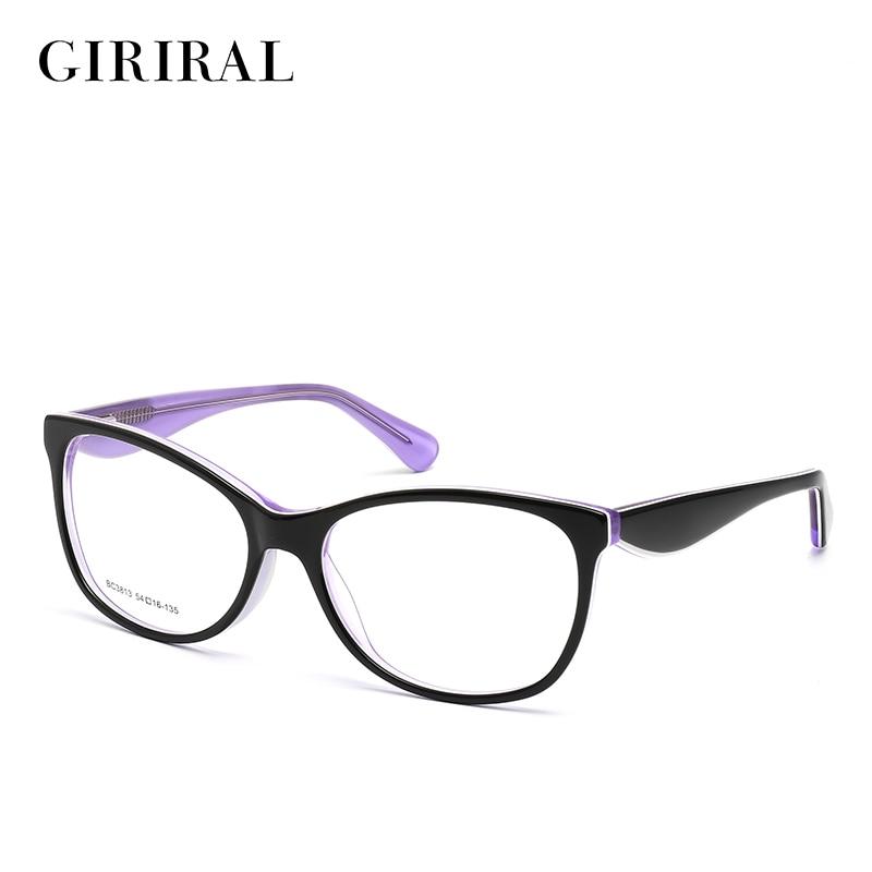 Acetate women eyeglass frames round designer optical brand myopia clear spectacles #BC3813