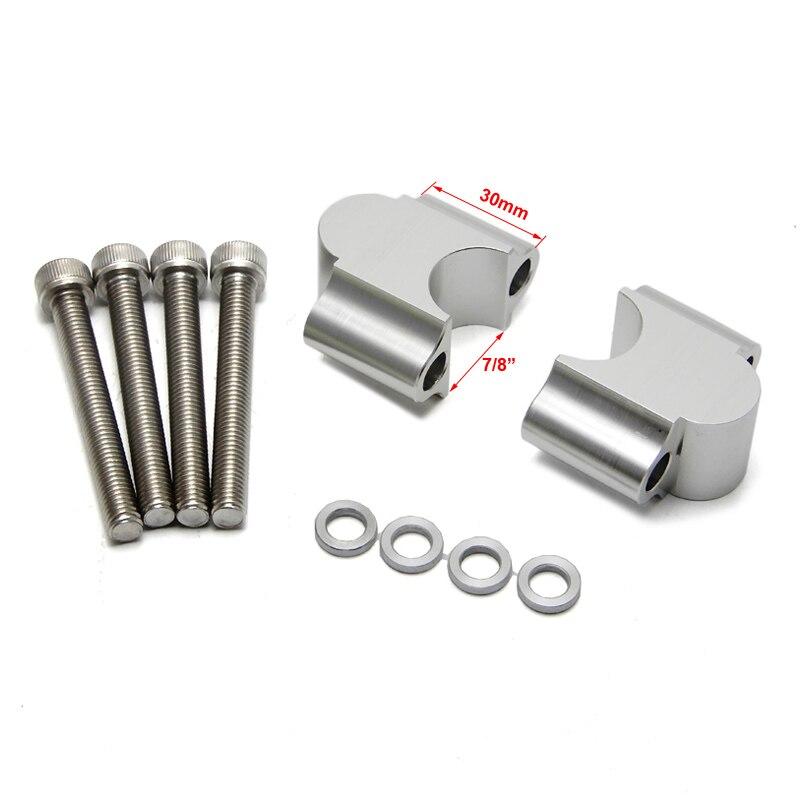 """7/8 """"22 мм образного руля Ручка Бар riser адаптер мотоцикл образного руля зажим для Honda trx450 MT07 Z900 ATV gsxr 750 600"""