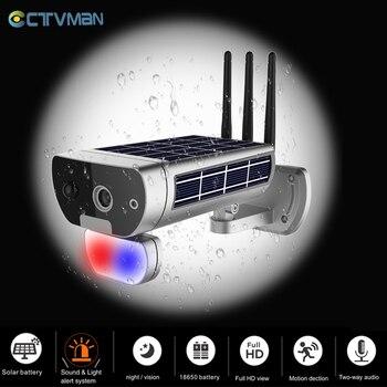 CTVMAN 1080P Solar Security Camera Solar WIFI Camera Exterior Wireless Solars Cameras IP 2MP CCTV Home Security P2P 1