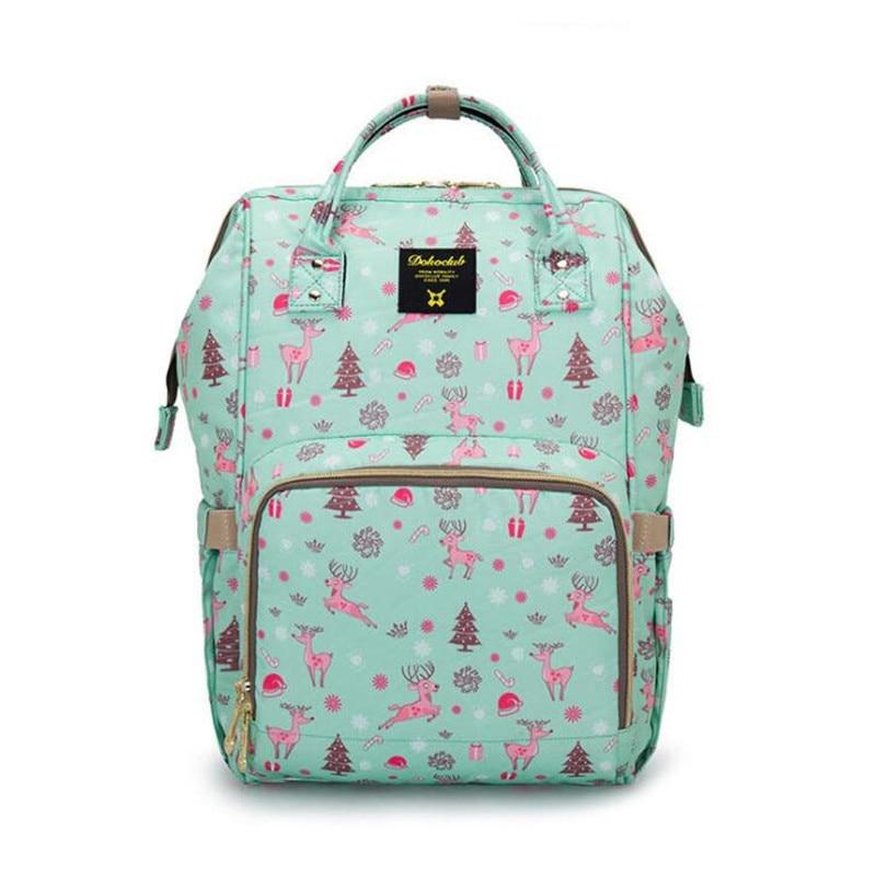 Dokoclub Baby Diaper Bags Mummy Maternity Backpack Fashion Nursing Nappy Bag for Mom Travel Organizer Waterproof