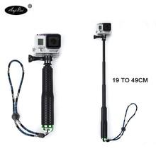 Go Pro self-timer pole aluminum alloy for gopo Hero Sj Cam Xaomi Xiomi Yi accessories telescopic hand-held pole 19 inch 49cm