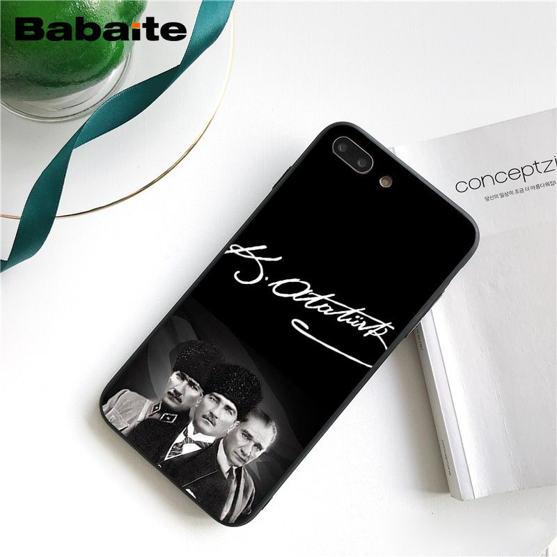 Turkey Mustafa Kemal Ataturk Cover Black Soft Shell Phone Case for iPhone 8 7 6 6S Plus X XS MAX 5 5S SE XR 10 Cover