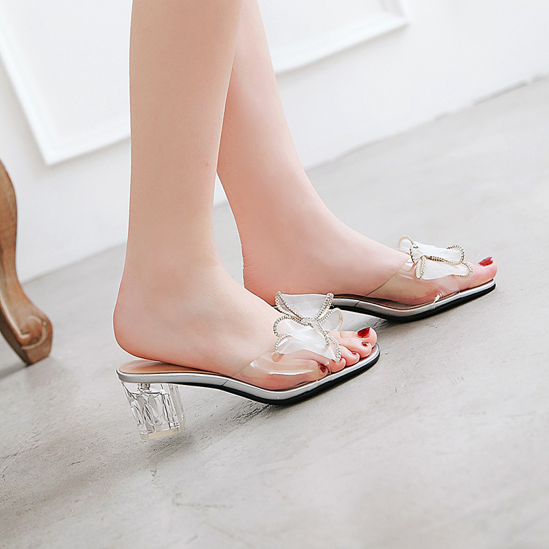 Shoes Tangnest 2019 New Summer Novelty Med Heel Slides Women Platform Slippers Slip On Solid Sandals Fabric Lady Daily Mules Xwz5562