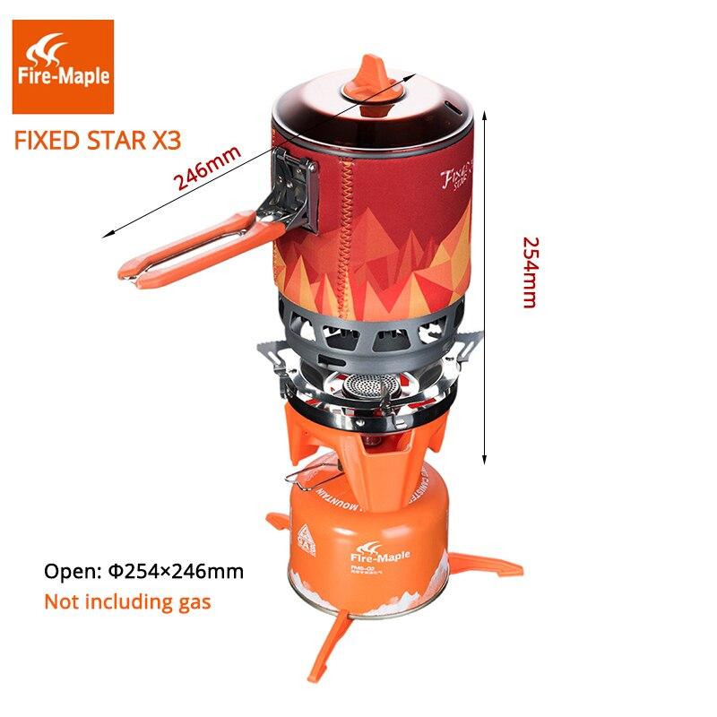Brûleurs à gaz de Camping en érable feu système de cuisson en plein air 2200 W 0.8L 600g avec FMS-X3 de cuisinière à gaz à allumage piézo-électrique - 3
