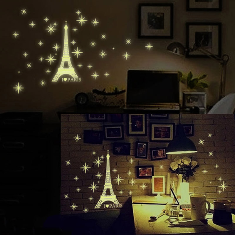 Image 5 - Luminous Snowflake Glow In The Dark Window Stickers Christmas Deals Winter Decorations Removable Happy New Year Sticker-in Wall Stickers from Home & Garden