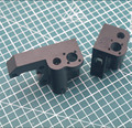 1 комплект Prusa i3 алюминиевые металлические осевые части X направляющий правый/левый комплект X-Carriage Mount/idler motor mount set