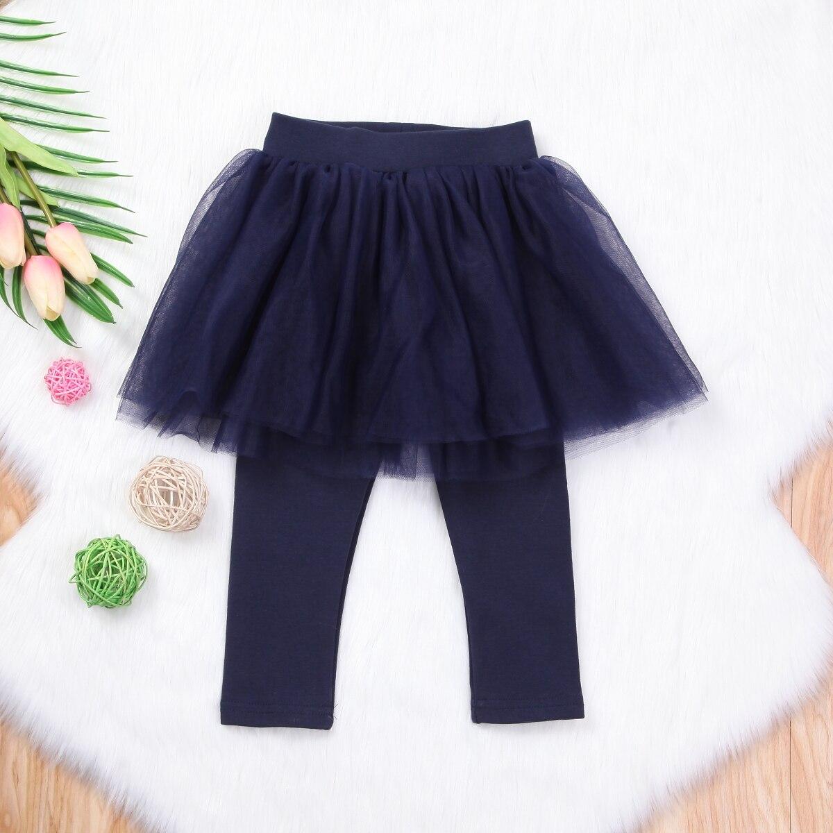 4colors Baby Kids Girls Lace Tutu Skirt Princess Leggings Pants Culotte Pantskirt Clothes 1-6T