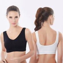 S-XXXL Plus Size Women Active Bra Fitness Running Vest Underwear Padded Crop Tops Bras Female 2019