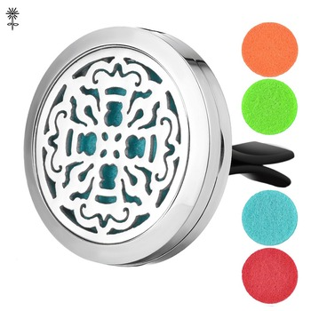 Aroma Essential Oil Diffuser Locket 30mm Stainless Steel with 5 Easy-Switch Oil Pads VA-333 image