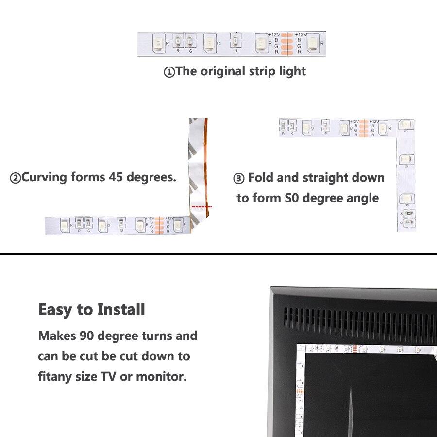 Tira de luz led RGB de 24V 5050 20M impermeable IP67 1200led blanco frío blanco cálido RGB tira de Led Flexible cinta ledstrip al aire libre - 4