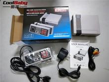 Mini Retro Classic Video Game Console Embutido 620 Jogos PAL & NTSC TV Família jogador handheld do jogo de 8 Bits 2 PCS Gamepads