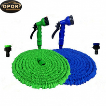 25FT Expandable Water Spray Nozzle Garden Hose Miniature Garden Hose With Holder and Nozzle Fairy Garden Accessory