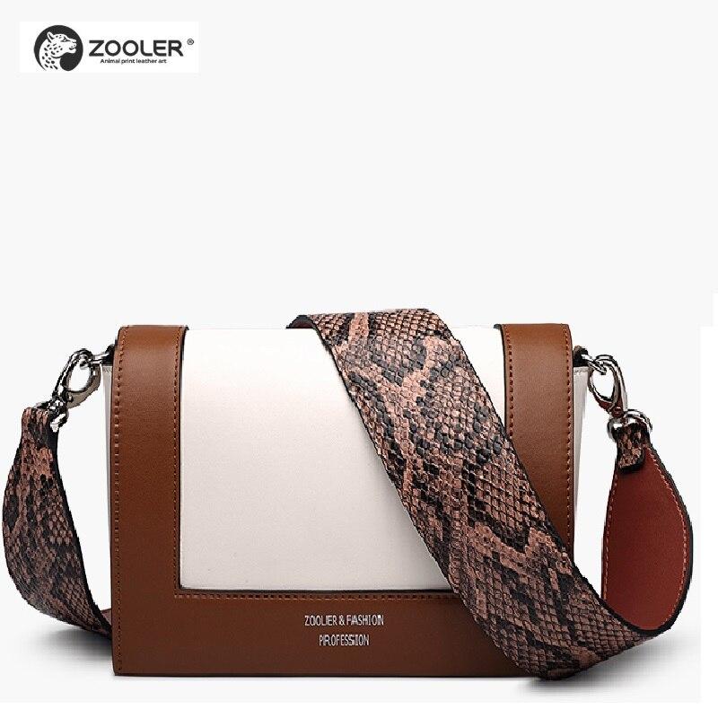 ZOOLER sacs à bandoulière en cuir véritable femmes patchwork sac messenger bandoulière mode sac à main en cuir sac à main bolsa feminina # S101