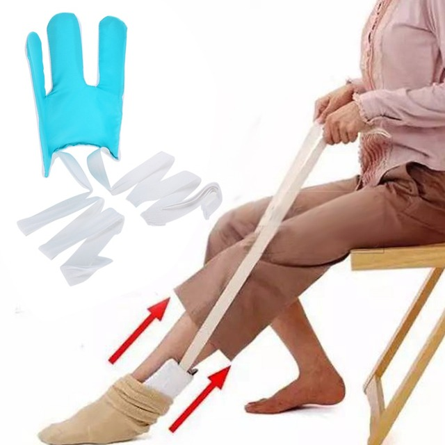 5e6f6760ba Foot Brace Support Sock Aid Kit No Blending Stretching Stocking Helper Tool  Stocking Aid Brace for Pregnancy Injuries Elderly