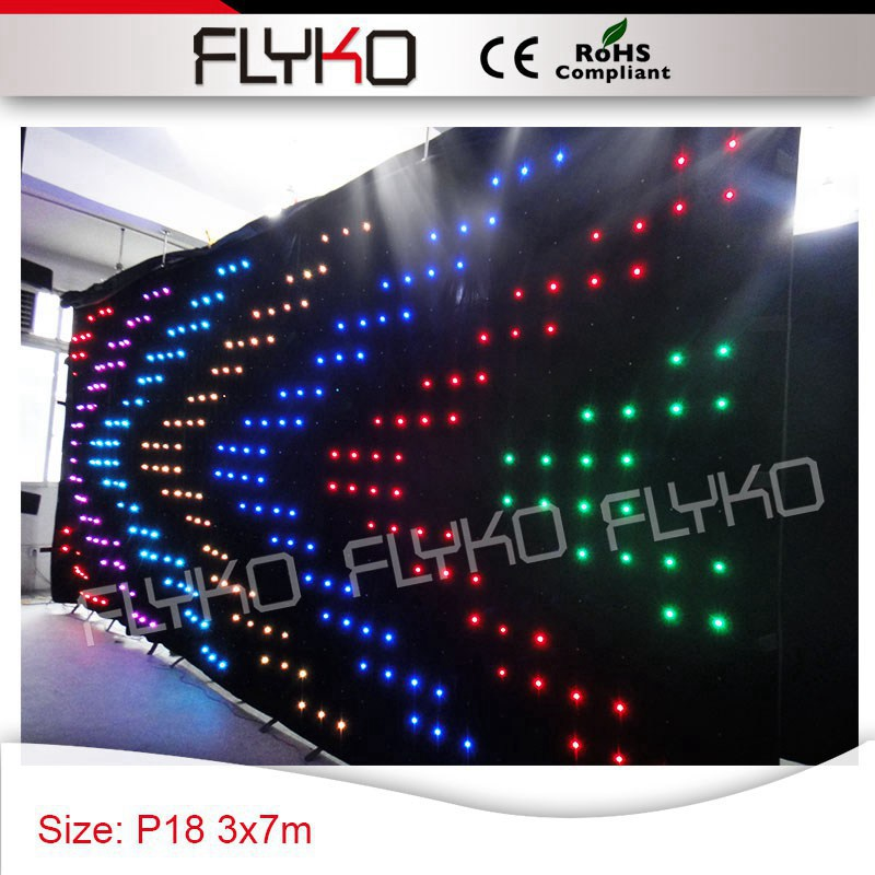 US $1050 0 |Picture,Text,Video Display professional lights 10ft x 23ft  P18CM indoor led video curtain black backdrop-in Stage Lighting Effect from