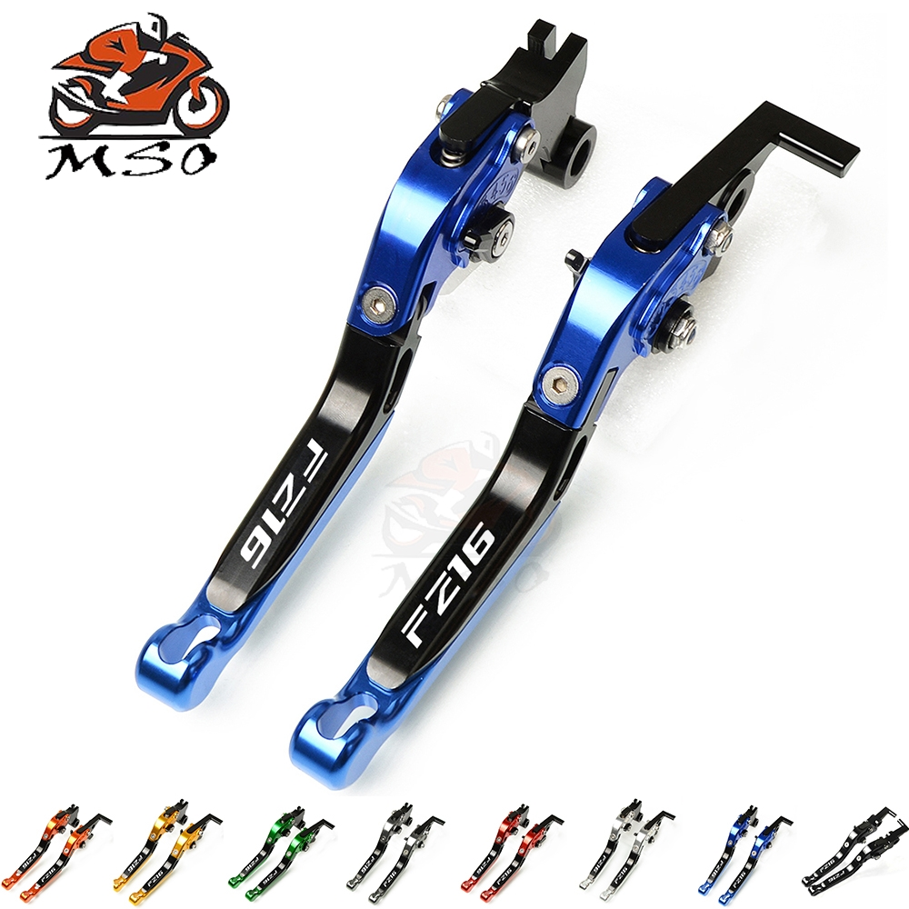 CNC Motorcycle <font><b>Parts</b></font> Adjustable Folding Extending Brake Clutch Levers Motorbike Brake Clutch Levers For <font><b>Yamaha</b></font> <font><b>FZ16</b></font> <font><b>fz16</b></font> image