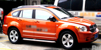 Hot selling aluminium alloy material sliver color 2 pcs roof rail for Dodge Caliber