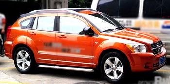 Hot selling aluminium legering materiaal sliver kleur 2 pcs dak rail voor Dodge Caliber
