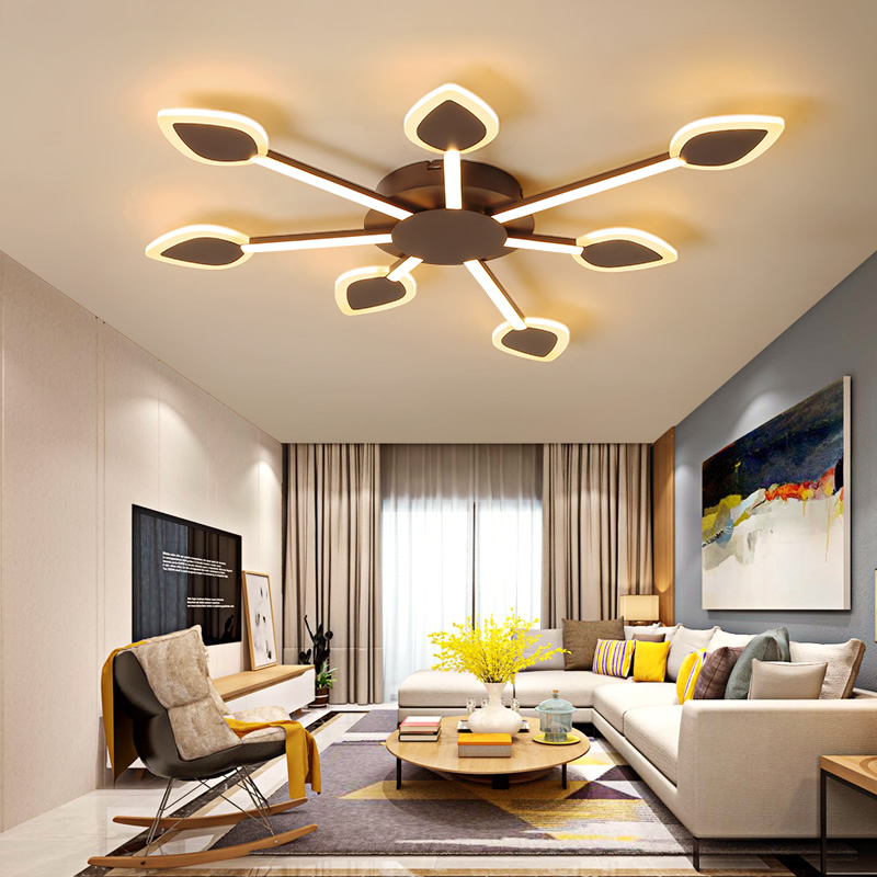 Personality creative modern led chandelier for living room bedroom restaurant acrylic interior chandelier lamps free shipping orient ug1h002w orient