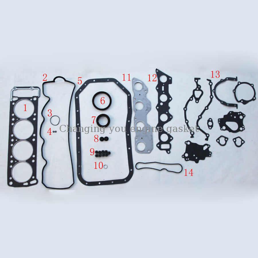 4G54 4G54B G54B para MAZDA B-SERIE (UF) conjunto de piezas de motor MITSUBISHI PAJERO L 200 conjunto completo de juegos de juntas de motor MD997037