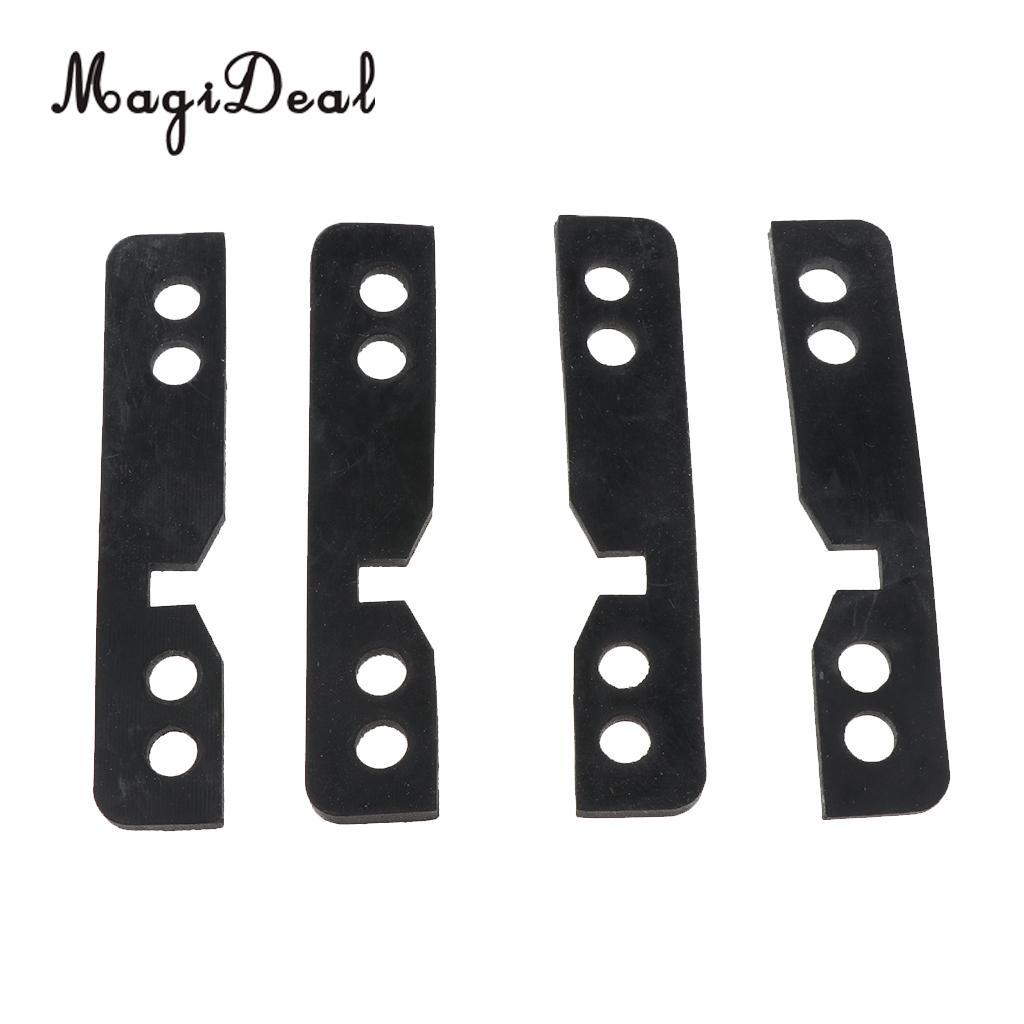 4 Pieces 3mm Longboard Skateboard Riser Pad Shock Pads Hardware Kit Rubber Black For Long Board Repair Rebuilding Accessories