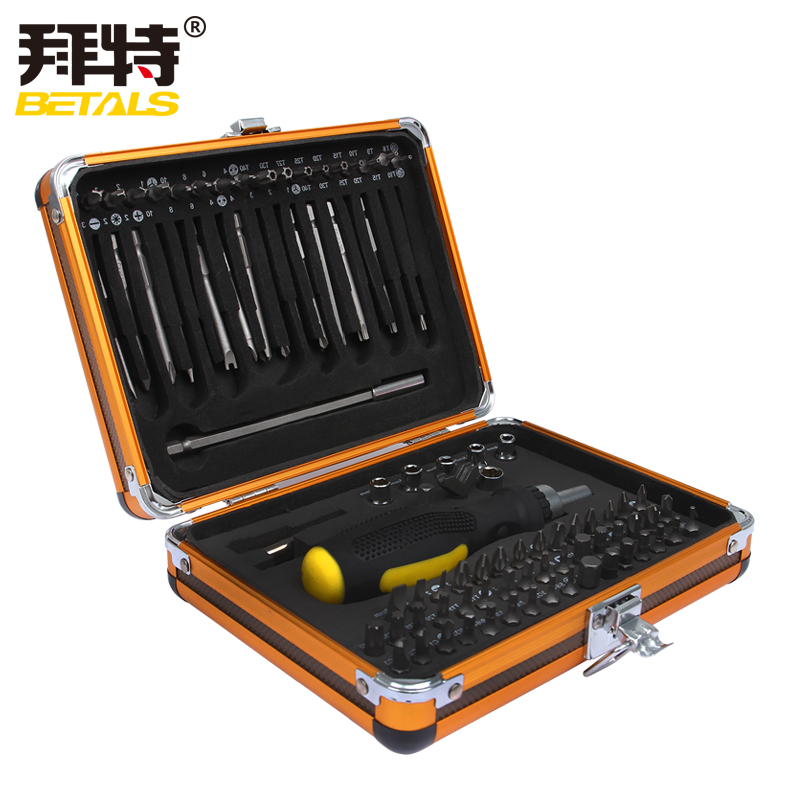 Betals NEW 92 In1 Tool Box Multi-function Screwdriver Bits Set Ratchet Wrench Socket Household Electrical Maintenance Tools Sets xkai 14pcs 6 19mm ratchet spanner combination wrench a set of keys ratchet skate tool ratchet handle chrome vanadium