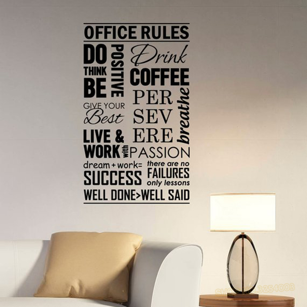 Welcome Wall Sticker Quotes Lettering Window Wall Words Phrases Sticker Decal